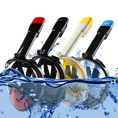 Anti-fog Full Face Snorkel Mask Water Sports Diving Scuba Goggles for Gopro CA