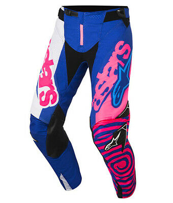 2018 Alpinestars Youth Racer Venom Pants Blue/Pink Flo