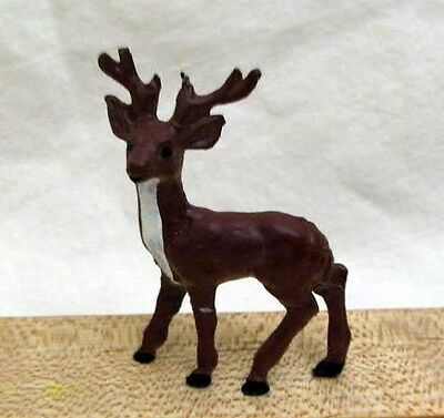 Vintage Solid Metal Miniature Buck Deer Figure