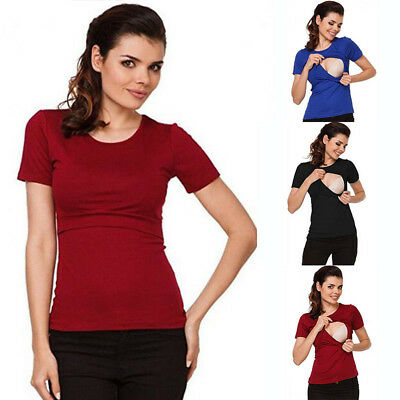 Maternity Clothes Breastfeeding Tops Nursing T-shirt For Pregnant Women