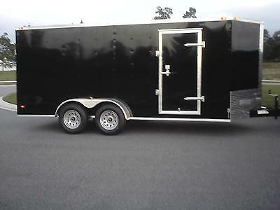 7x16 Enclosed Trailer Cargo V-Nose 18 New Utility 14 Motorcycle 8 Lawn 2018