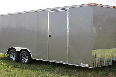 8.5x24 CAR HAULER ENCLOSED CARGO TRAILER, NEW IN STOCK NOW, PICK YOUR COLOR, 20