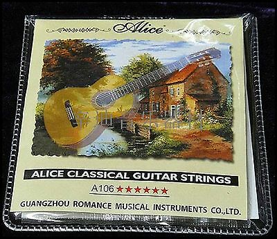 Set of Classical Strings Sets Clear Nylon Guitar Strings A106-H Alice