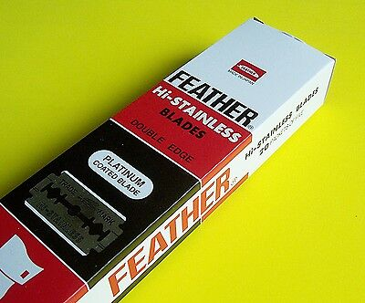 Feather Razor Blades Platinum Doubled Edged Stainless Shaving U Pick Qty