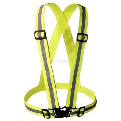 Outdoor High Visibility Adjustable Safety Straps Unisex Reflective Vest&Bracelet