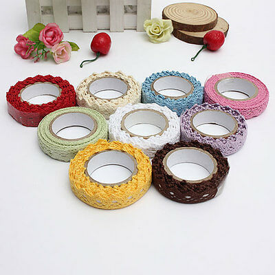 18mmX1.7M Cream Vintage Style Lace Ribbons Wedding Trim Ribbon Craft Sewing Lace