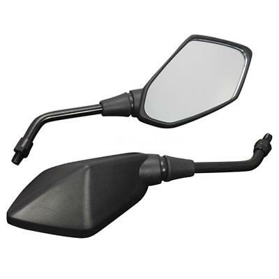 1 Pair Universal Motorcycle Scooter Aluminum Alloy Rearview Side Mirror M4E0