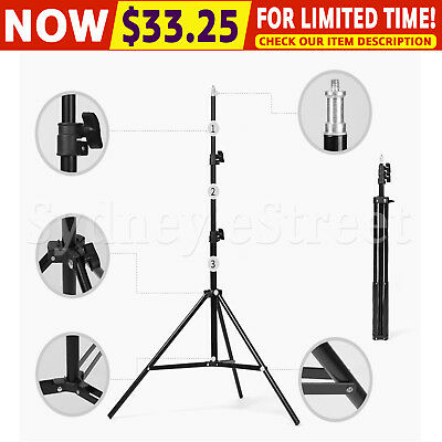 2M Light Stand Tripod Support For Photo Studio LED Ring Light 1/4 Standard Joint