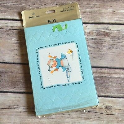 Hallmark Boy Birth Announcements New In Package 8ct Includes Envelopes