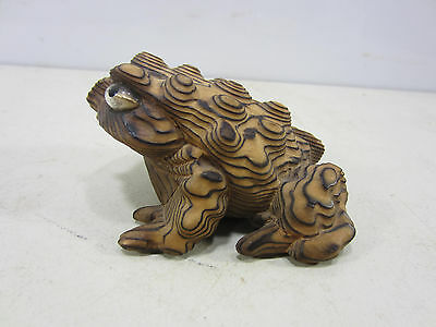 Vintage Cryptomeria Wooden Hand Carved Toad