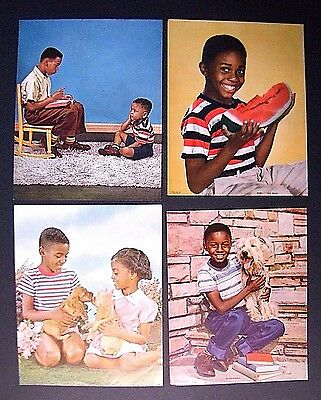 ViNTAGE 40s 50s BLACK AMERiCANA CHiLDREN KiDS ADVERTiSiNG PHOTO LiTHO PRiNT ART