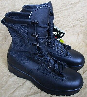 New Us Army Belleville 700V Goretex Leather Combat/flight Boots Uk 10. Black.