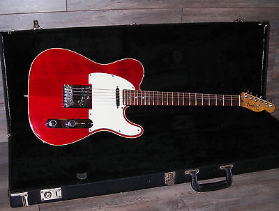 2000 USA Fender Telecaster Deluxe Candy Apple Red with Fender HSC