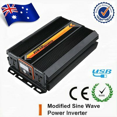 6000W CE MODIFIED SINE WAVE POWER INVERTER DC12V to AC240V Battery Charger W/LCD
