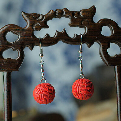 Red Lacquer Lucky Bead Earring