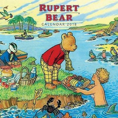 RUPERT THE BEAR OFFICIAL 2018 CALENDAR UK SQUARE ( 30cm x 30cm) NEW & SEALED