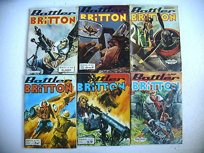 BD - BATTLER BRITTON lot 6 n° 161 - 361 - 297 - 439 - 409 - 82 ( an 1963 à 1983)