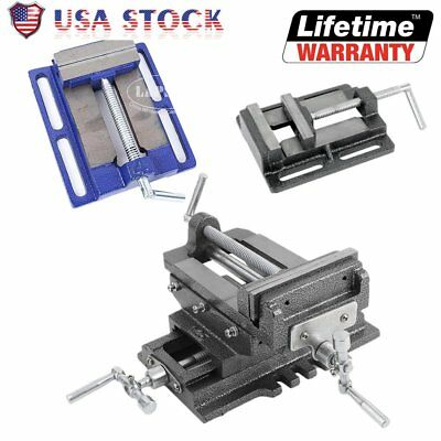 "3""/4""/5""/6"" Cross Drill Press Vise X-Y Clamp Machine Slide Metal Milling 2 Way T"