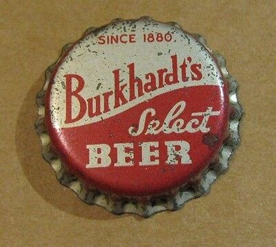 Burkhardt's Select Beer Cork Beer Cap Akron Ohio Unused Old Stock Cap