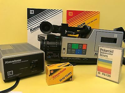 Vintage Kodavision Camcorder 2400 Working  With User's Guide - A Must See