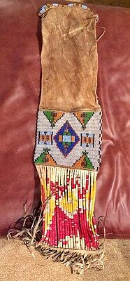 Rare 19th Century Plains Indian Beaded Pipe Bag