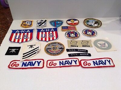 Lot Of  20 PC Vintage Military Patches Decals