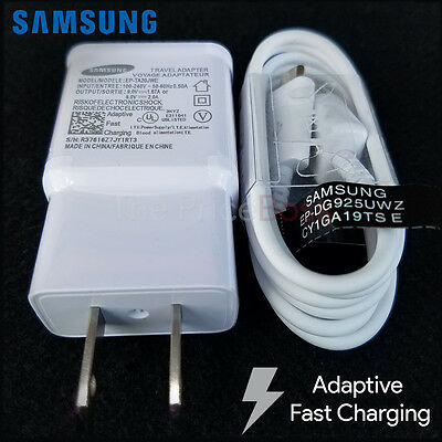 New OEM Adaptive Fast Rapid Charger Samsung Galaxy Note 4 5 S6 S7 Edge A5 A7