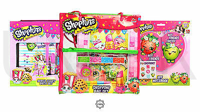 Shopkins School Stationary & Accessories - Kids Erasers, Pens, Notebook & Bags