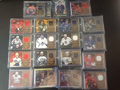 16/17 Upper Deck Tim Hortons Jersey Relic Complete Set With Mackinnon Auto