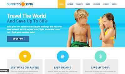 TRAVEL Booking AUTOMATED Turnkey Business Website For Sale - MAKE MONEY ONLINE!