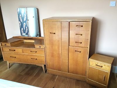 E Gomme, G Plan Bedroom Furniture Set, Tallboy, Dressing Table, Bedside Cupboard