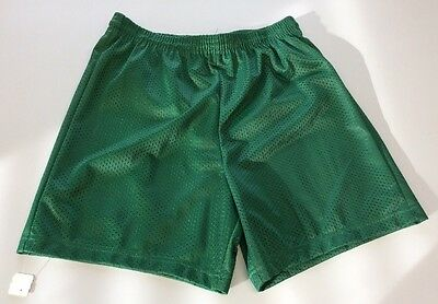 Youth Athletic Mesh Textured Soccer/Basketball Green Shorts NWT Size XL