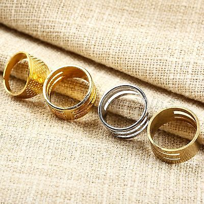 Home Sewing Tailors Quilting Metal Thimbles Rings Needle Hoop Finger Protector