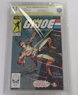 GI JOE No. 21, Silent, 1984,  CBCS Graded 9.2 Signed by Ray Park Plus  Four More