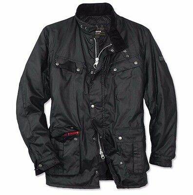 NWT! Barbour 'Duke' Waterproof Waxed Cotton Jacket, Black, Mens S, $399