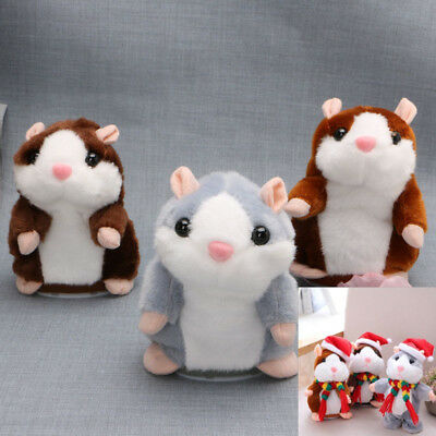 Cute Talking Nod Hamster Mouse Record Chat Mimicry Pet Plush Toy Xmas Gift New