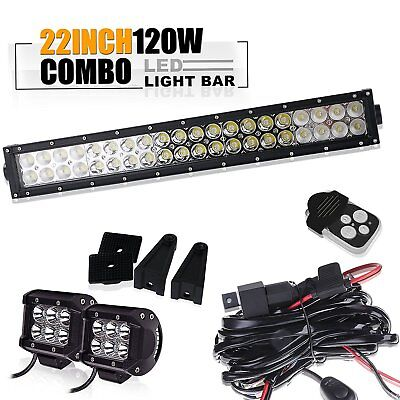 "CAN AM TOTRON  20""  Double ROW  LED Light Bar & HARNESS KIT&2PC 18W Cube Pods"