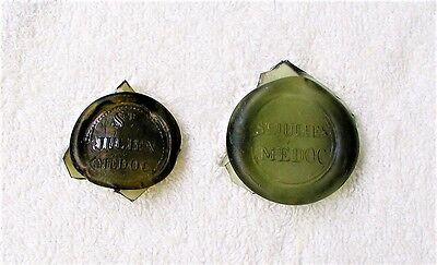 Two Antique Glass Wine Bottle Seals for one Price That was Dug in New Orleans