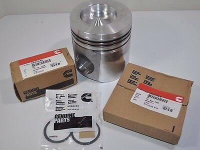 NEW Genuine Cummins 6C Piston Kit - Piston, Rings, Pin & Clips From 3934585