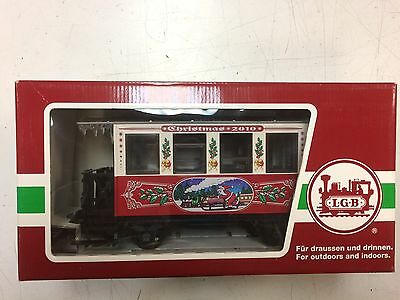 LGB 35072 Christmas 2010 Christmas Passenger Coach New in Box!