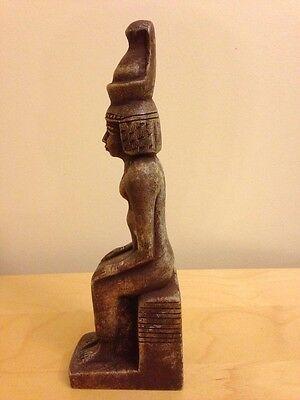 Unique Egyptian Seated Statue Of King Ramesses II , 26 X 5.5 CM