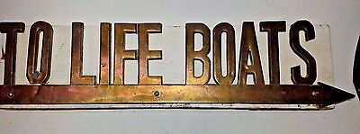 Brass Letters   To Life Boats