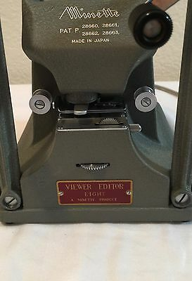 Vintage MINETTE Viewer Editor Eight 8mm Great Condition!