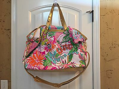 EUC Lilly Pulitzer For Target Nosie Posey Weekender Duffle Bag