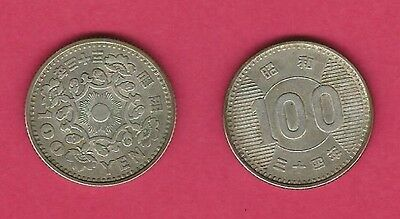 100 Yen Japan Silver Coins (2) {unknown years}  Y #77 & Y #78