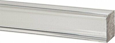 "Acrylic Square Rod (Extruded) - Clear - 72"" x 1"" (Nominal)"