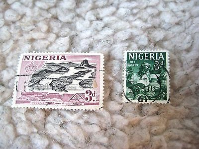 Set of 2 Nigeria Stamps