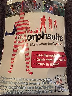 USA  Flag Patriotic Original MorphSuit Xl  Costume