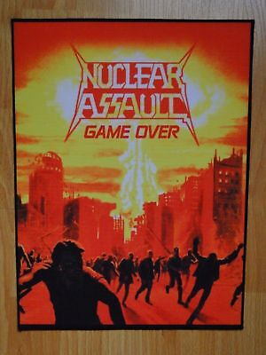NUCLEAR ASSAULT Game Over BACK PATCH printed NEW thrash metal