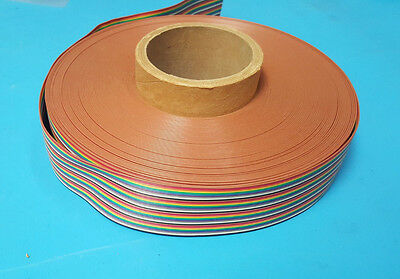 Ribbon Cable, 100ft, Spool, 24AWG, 40 Conduct, Color Code,843-111-2413-040